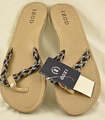 81bc59646f7 Women s Izod flip flops size large arch support cuahioned insole top strap