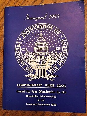 1953 Inaugural Complimentary Guide Book ,president Eisenhower, Free Shipping