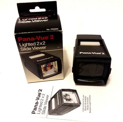 """New In Box! PANA-VUE 2 Lighted 2x2"""" Slide Viewer! FREE SHIPPING!"""