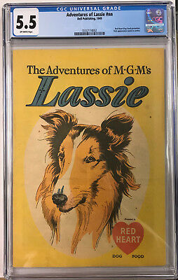 1949 Dell Publishing Adventures of MGM's Lassie #1 CGC 5.5 Off White (BB 3)