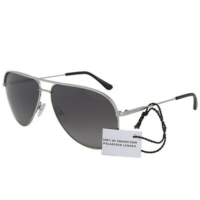 eaac3c7a1f Tom Ford Erin TF 466 FT466 17D Women Men Silver Grey Polarized Aviator  Sunglass