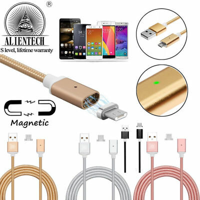 Magnetic Type-C Micro USB Fast Charger Charging Cable for Samsung Galaxy S7 S8+