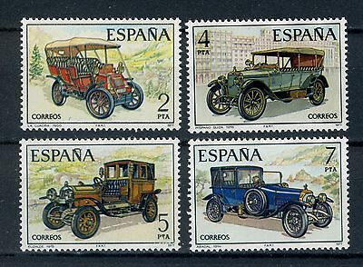 Spain Stamps:1977 Vintage Spanish Cars  Full set,  MNH