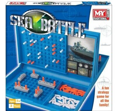 Battleships Sea Battle Traditional Family Fun Board Game Combat Strategy New