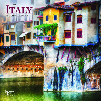 2019 Calendar Italy Mini Wall Calendar by Browntrout, postage included
