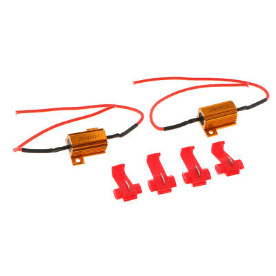 Pair 25w 10ohm load resistors for LED bulbs canbus indicator sidelight P21w 501