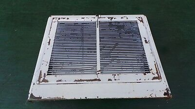 OLD VICTORIAN Tin Heat Wall Vent Floor Grille Grate Register 15 x 13 WHITE