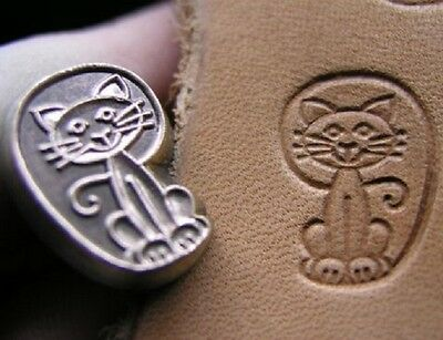 New Little Cat Custom Made Leather Stamp Leathercraft Tool