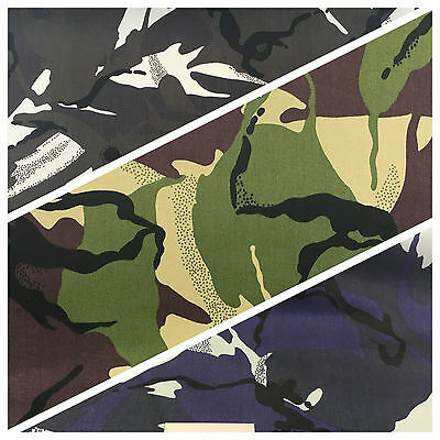 """Army Military Camouflage 100% Cotton Drill Medium Weight Fabric 58"""" M629 Mtex"""