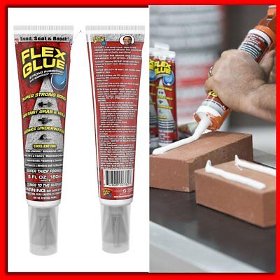 Flex Glue Super Strong Rubberised Adhesive. Waterproof. Seal And Bond Instant