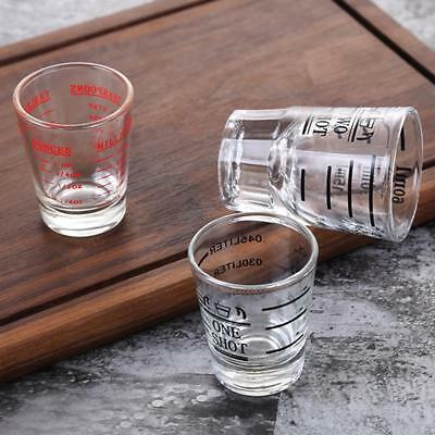 Transpare Glass Ounce Cup Measuring Cup Shot Glasses Bar Tools 30ml/45ml/60ml