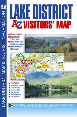 Lake District Visitors Map, Geographers A-Z Map Company, Used; Good Book