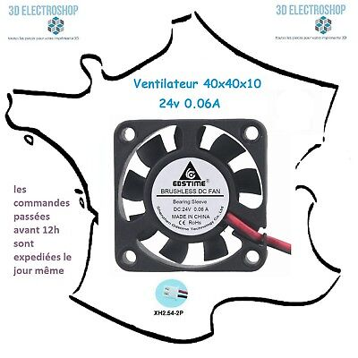 ventilateur fan brushless 40x40x10 24v dc 0.06A 3d print cnc