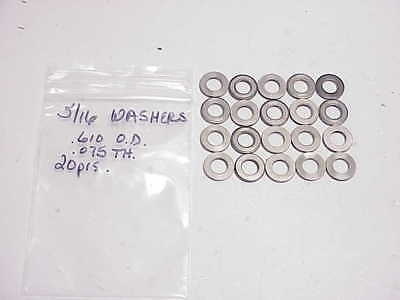 """20 Steel Washers 5/16""""- .610"""" O.D.-.075"""" Thick NASCAR ARCA ARP"""
