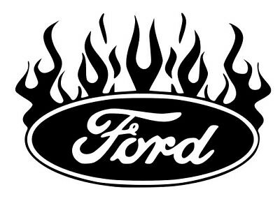 Ford Logo With Flames Vinyl Cut Sticker Decal Ford Focus Fiesta ST RS Ford Decal