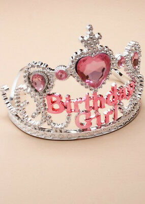 Childrens Pink and Silver Birthday Girl Tiara