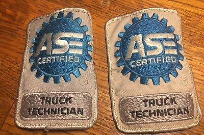 2 ASE Certified Truck Technician embroidered patch