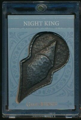 2017 Game of Thrones Valyrian Steel Pin and Coin Cards #H9 Night King Pin
