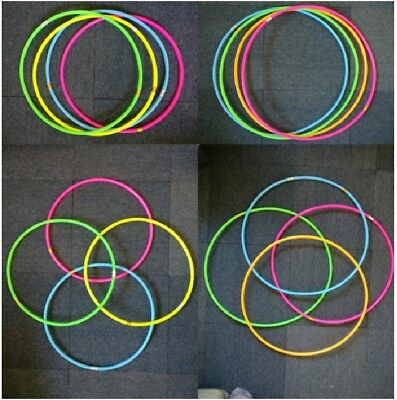 Multi colour Hula Hoops Plastic Kids Adult Fun Playing Fitness Exercise Yoga Gym