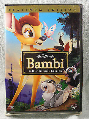 NEW Sealed BAMBI - 2005 DVD, 2-Disc Set - Disney Special / Platinum Edition