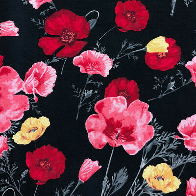 3cc768fe4d0 Big Floral Pattern on Rayon Spandex Jersey Knit Fabric - Style P-150-HVY
