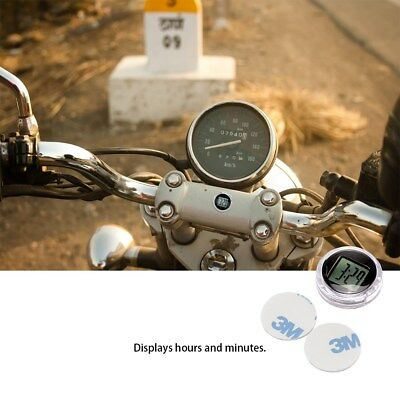 Mini Motorcycle Motorbike Bike Digital Clock Watch Waterproof Stick-On Time Kit