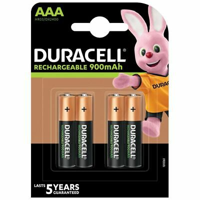 4 x Duracell AAA 900 mAh Rechargeable Ultra Batteries NiMH ACCU LR03 HR03 Phone