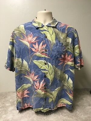 77eda261 Tommy Bahama Hawaiian Multi Color Button Down Shirt Size Large Extra Buttons