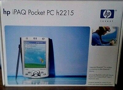 HP IPAQ H2215 Pocket PC 400mhz (FA159A#8ZP) SD WIFI CARD/TWO PRONG ADAPTER/CASE