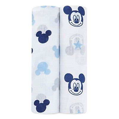 ideal baby by the makers of aden + anais Disney swaddle 2 pack mickey mouse NEW