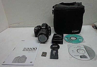 Nikon D D3100 14.2MP Digital SLR Camera - Black - Kit w/AF-S DX VR 18-55mm Lens