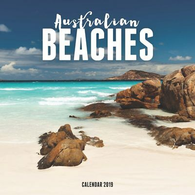 Australian Beaches 2019 16-Month Square Wall Calendar by Browntrout NEW