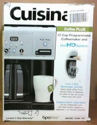 02bdadffc5a CUISINART CHW12C 12CUP Programmable Coffeemaker   Hot Water System  130 -  READ -  20.51