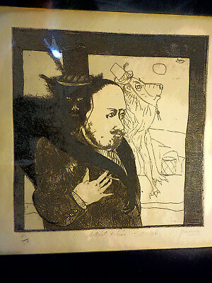 Peter  Paone Artist With Model 43/50 Etching Signed