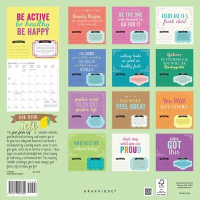 Your Future Self 2019 16-Month Square Wall Calendar by Graphique