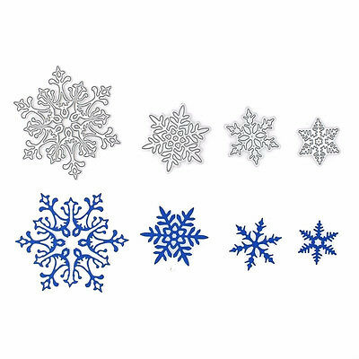 4X Christmas Snowflake Cutting Dies Stencils DIY Scrapbooking Albums Paper ss