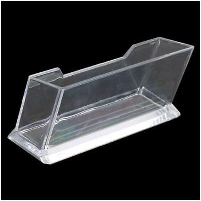 Clear Desktop Business Card Holder Display Stand Acrylic Plastic Desk Shelf  SC