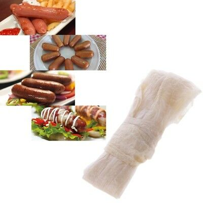 1PC Dry Sheep Casing Natural Sheep Sausage Cover,Sausage Skin 2.6 M 28-30mm Home