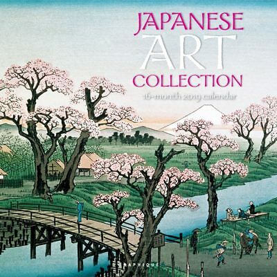 Japanese Art Collection 2019 16-Month Square Wall Calendar by Graphique