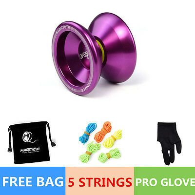Magic YOYO Ball T5 Overlord Aluminum Alloy Kids Toys Gift Purple 5 String 1Bag T
