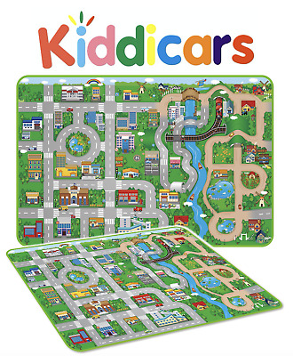 Giant Kids City By The River Playmat Cars Road Carpet Rug EVA Foam Toy Play Mat
