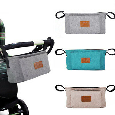Outdoor Storage Bag Baby Pram Stroller Pushchair Bottle Towel Holder Organizer