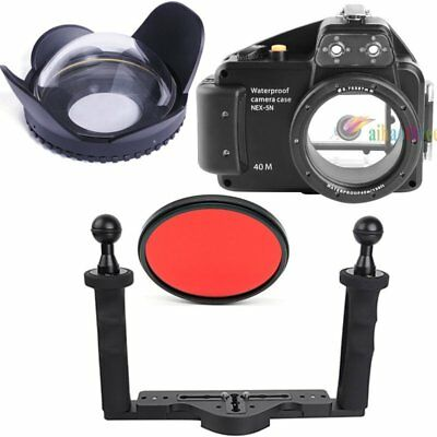 Meikon 40m/130ft Diving Case Fisheye Wide Angle Tray For Sony NEX-5N 16mm Camera