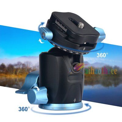 360 Degree Rotary Tripod Monopod Ball Head With Quick Release Plate For Camera