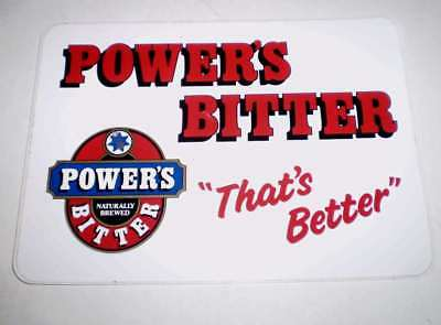 Beer advertising sticker - Powers Bitter 18 by 14 cms