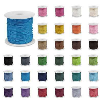 80M Waxed Cotton Cord Beading Thread Jewellery Making Thong 0.8/1/1.5/2m