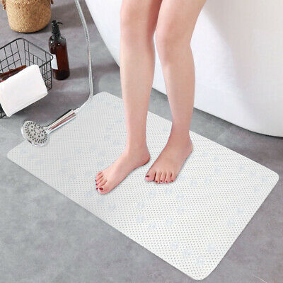 Extra Long Anti Slip PVC Bath Shower Mat Rubber Soft Cushioned Suction Cups