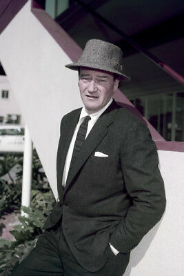 add17894 JOHN WAYNE VINTAGE 1950's Portrait In Suit And Hat Rare Large Poster ...