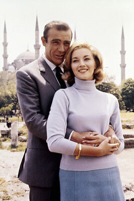 From Russia with Love Sean Connery Daniela Bianchi posing on location James Bond