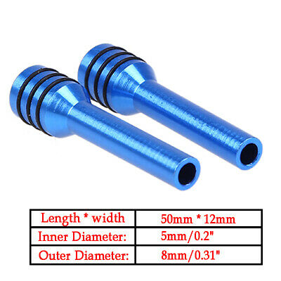 2x Car Truck Auto Interior Door Lock Locking Knob Pull Pins Aluminum Alloy Blue